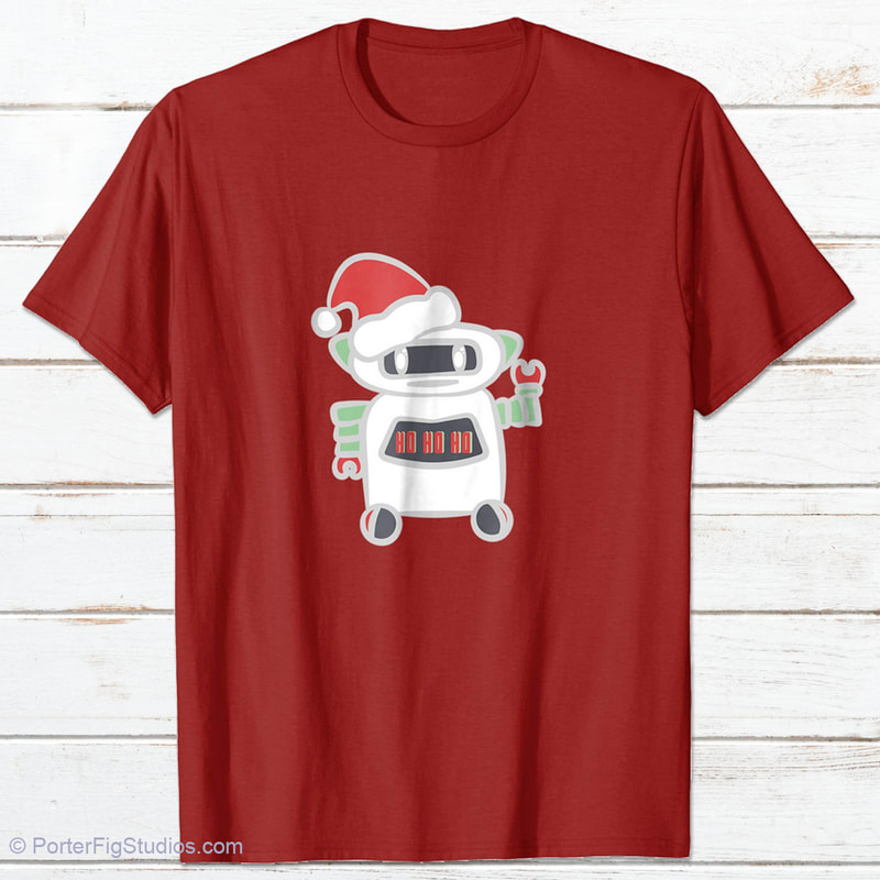 robot with santa hat